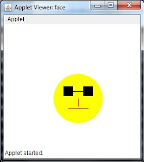 crazy freak glass smiley applet java code