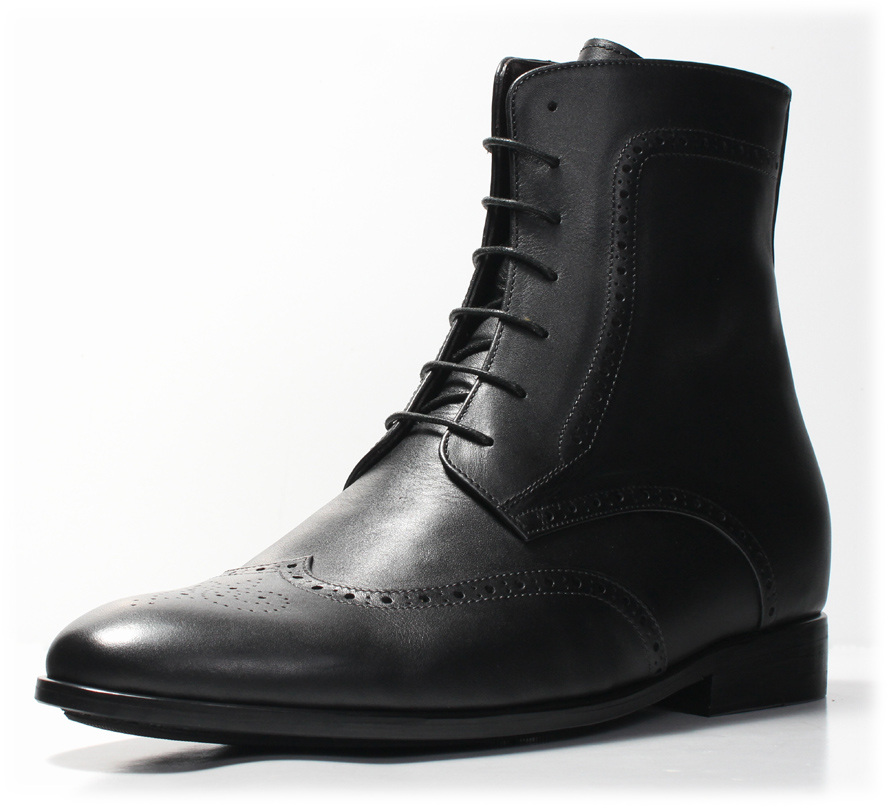 New Wingtip Boot amp Burnished Double Monk Shoe Elevator Shoes