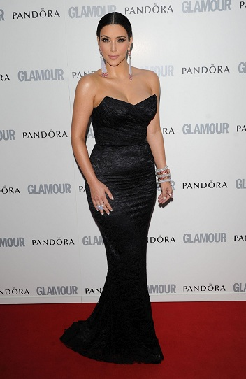 Hot Kim Kardashian at the Glamour Women of the Year Awards 2011
