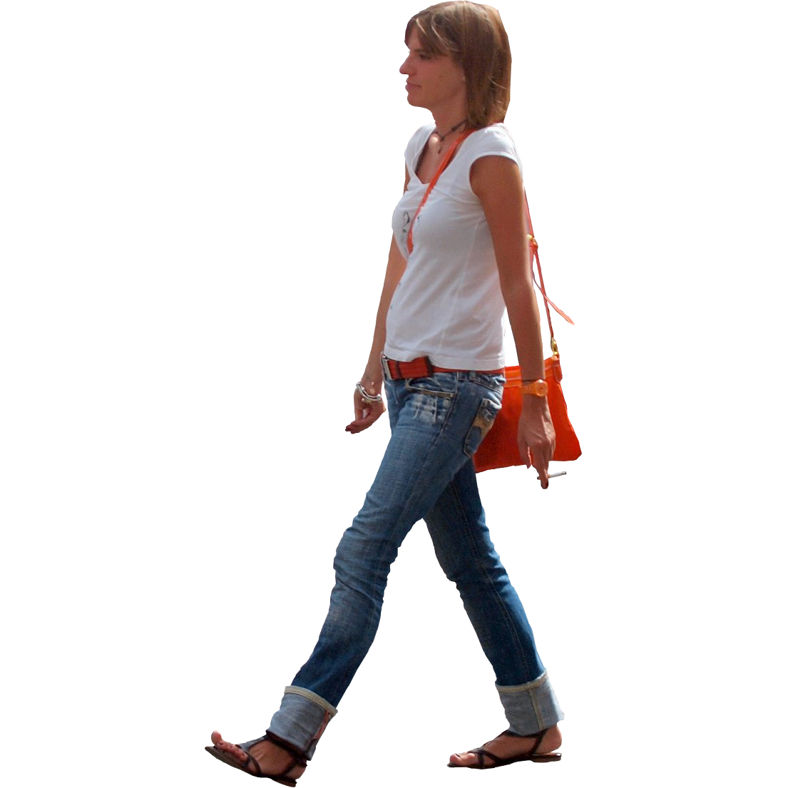 Immediate Entourage: Young Woman with Orange Purse