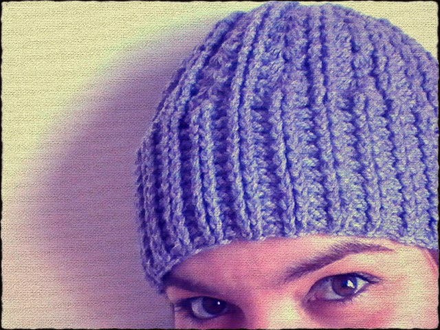 Gorro a ganchillo unisex y con punto elástico doble | Margarita Knitting