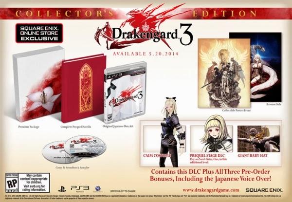 Actu Jeux Video, Drakengard 3, Jeux Vidéo, Playstation 3, Square Enix,