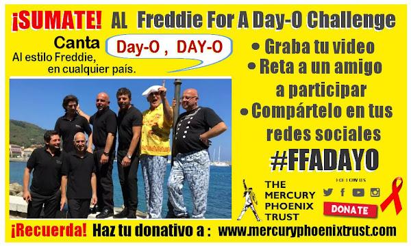 ¡SÚMATE al Freddie For A Day-O Challenge!