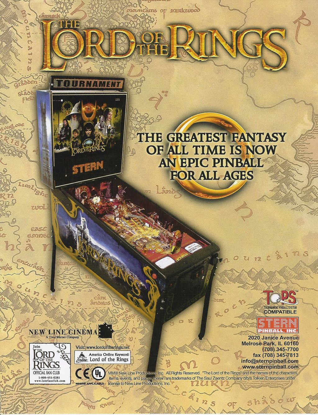 Virtual Pinball: The Lord of the Rings