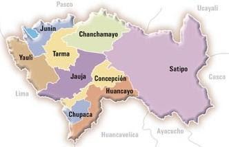 Grafico Mapa del Departamento de Junín (División Política de Junín)
