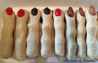 Witch finger coockies for Halloween