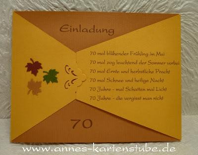 Annes Kartenstube: Einladungen zum Geburtstag