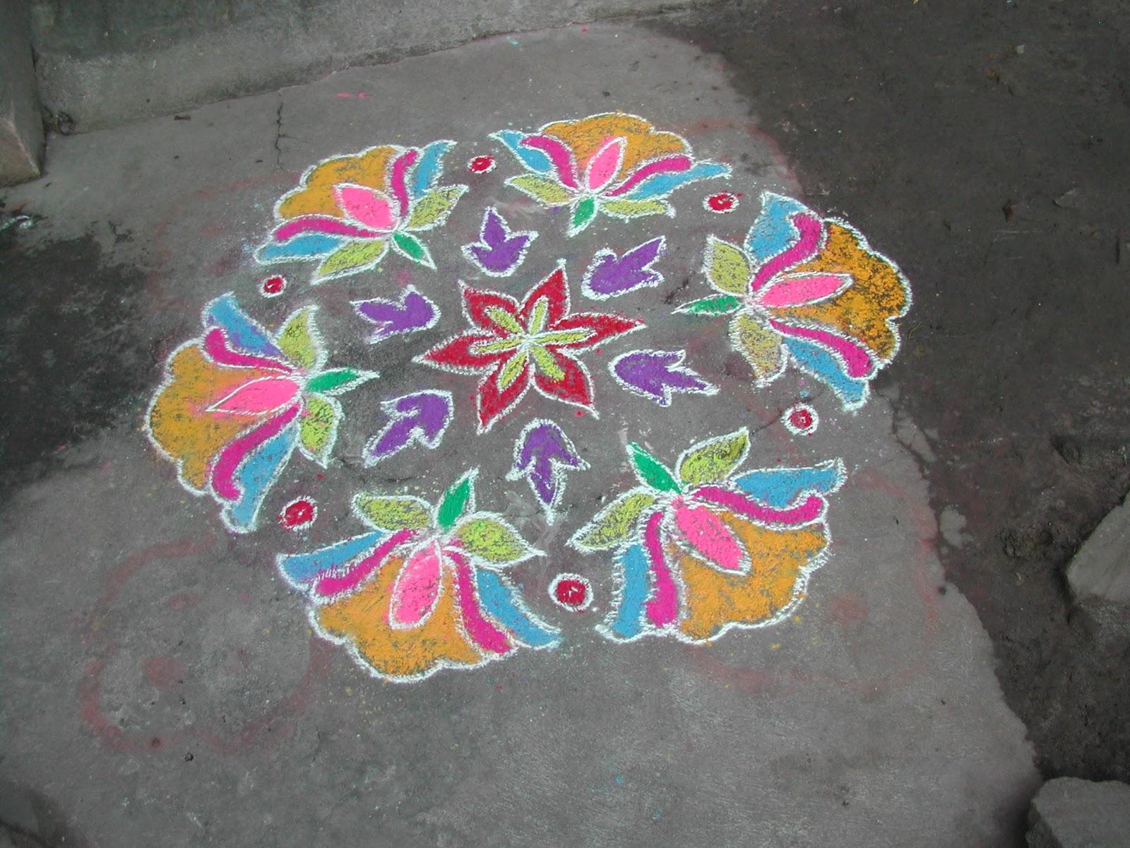 Kolangal: Flower Colour Kolam