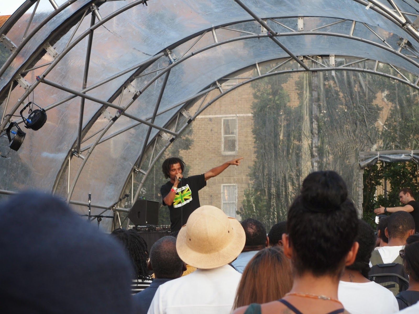 High-velocity spoken word artist/rapper Akala opens minds and hearts at the Black Cultural Archives launch event, Windrush Square, Brixton,