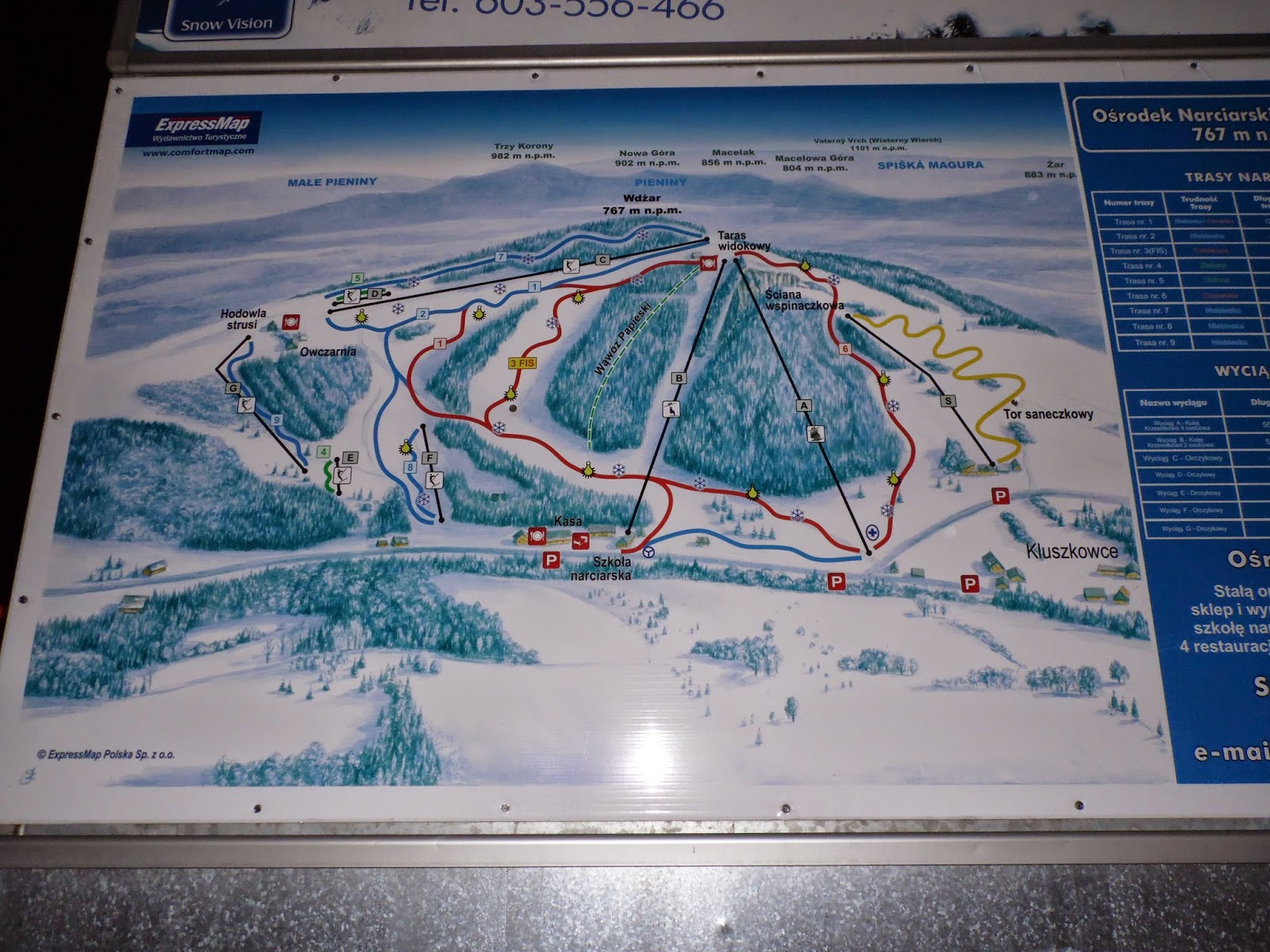 Kluszkowce stoki narciarskie