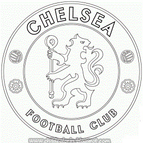 Emblem of Chelsea FC Coloring ~ Child Coloring