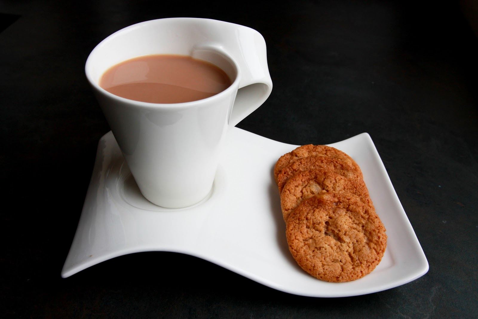 Good morning with tea and biscuits