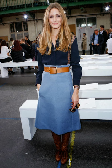 olivia palermo belt skirt