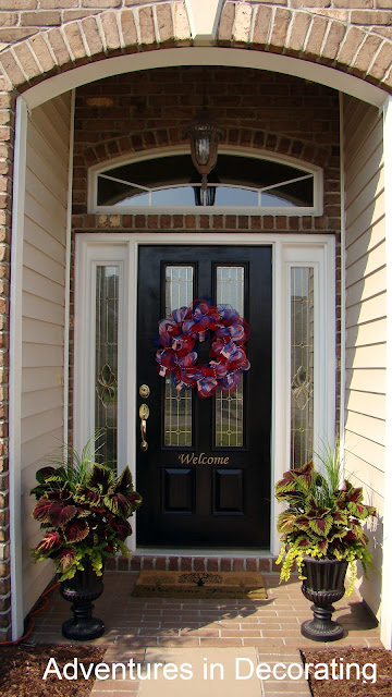 springdoor1 Traditional ranch style home tour in Myrtle Beach, SC