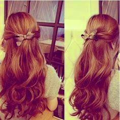 Little bow hair style