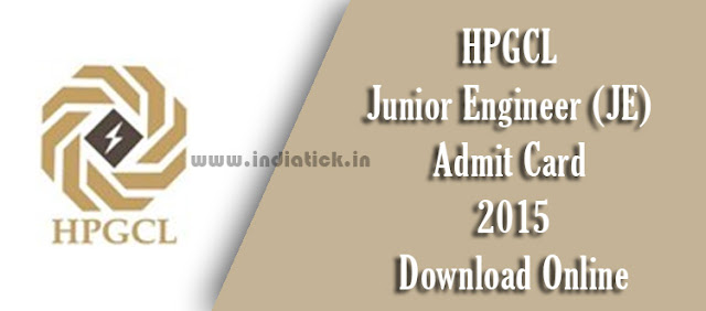 HPGCL Junior Engineer Admit Card 2015 Haryana Power Generation Corporation Limited (HPGCL) 268 Jr Engineer (JE) Posts Call Letter / Hall Ticket hpgcl.gov.in