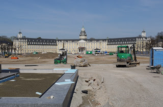 Umbau Mittelparterre Schlossplatz Karlsruhe