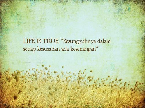 LIFE IS TRUE