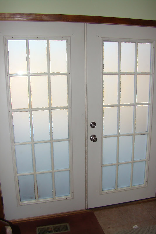 Frosted Glass on French Doors title=