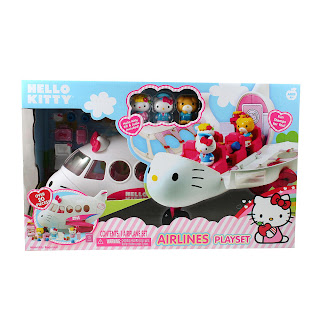 hello kitty airlines airplane play set
