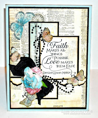 Stamps - Our Daily Bread Designs Quote Collection 3, Faith.  ODBD Exclusive Antique Labels and Border Die, ODBD Custom Butterfly Branch Die