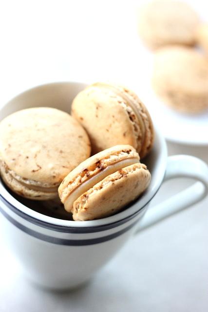 ... love: Caramel Latte Macarons: coffee macs with salted caramel filling