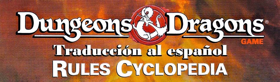 Dungeons & Dragons Rules Cyclopedia Traducido a español