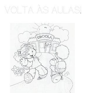 imagens para colorir regresso à escola - DESENHOS PARA COLORIR PROJETO VOLTA AS AULAS