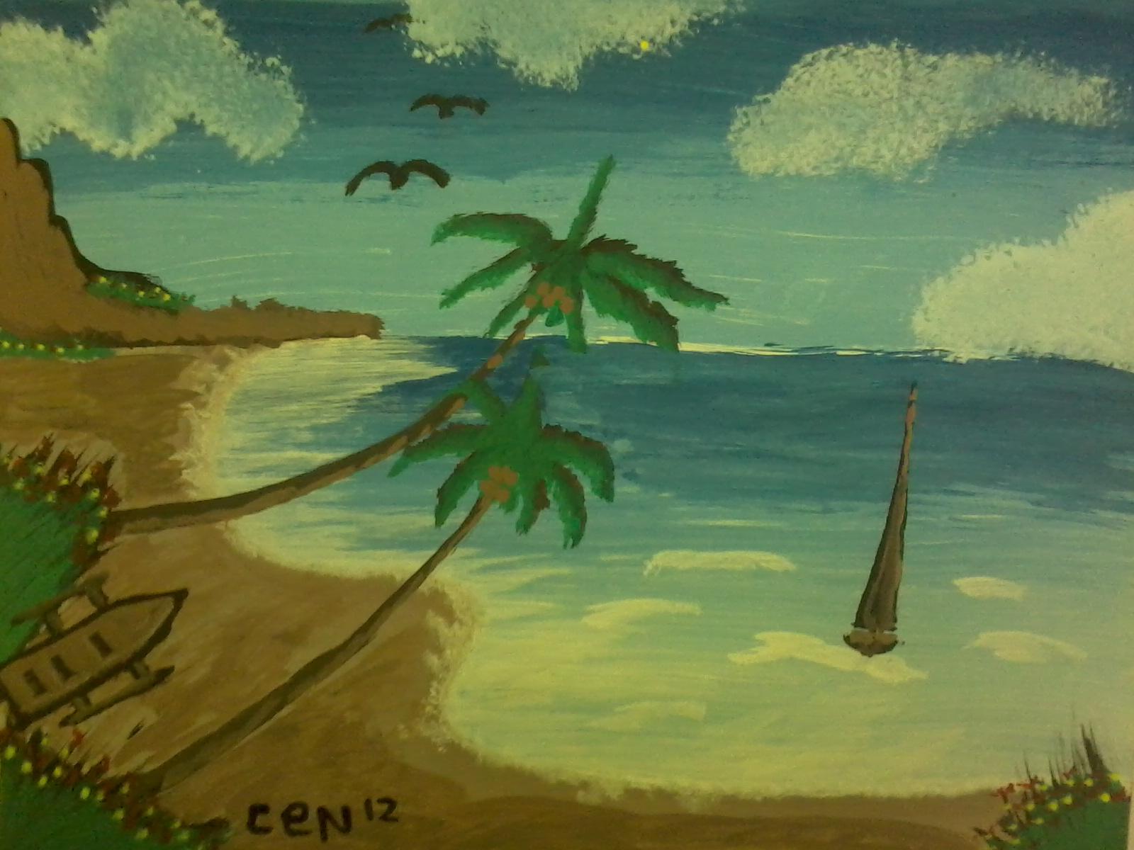 Lukisan pemandangan 1 &; 2 ikhsan periana xii ips 2