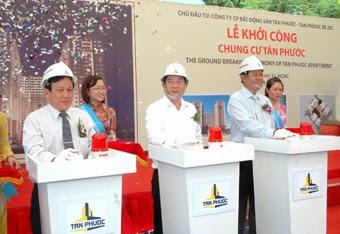 Lễ khởi công chung cu Tan Phuoc