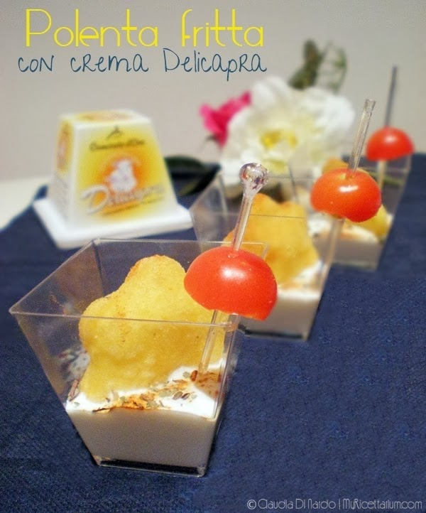 Polenta fritta con crema Delicapra
