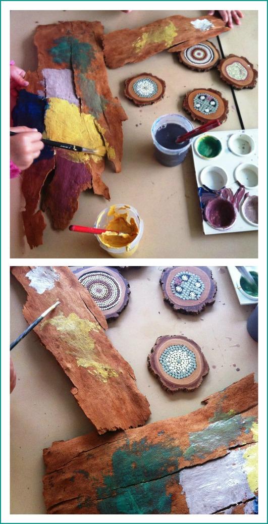 aboriginal art activities for preschoolers let the children play bark painting at preschool 248