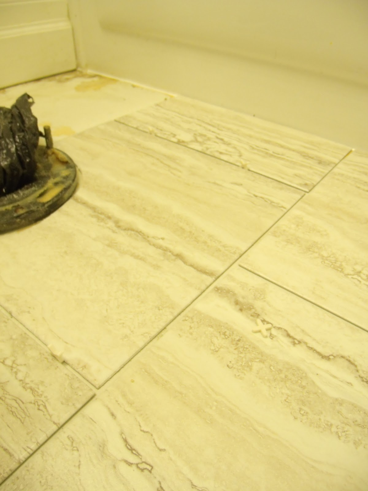 How to install peel and stick vinyl tile that you can grout how to install peel and stick vinyl tile that you can grout frugal family times dailygadgetfo Choice Image