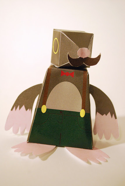 Movember Mole Paper Toy