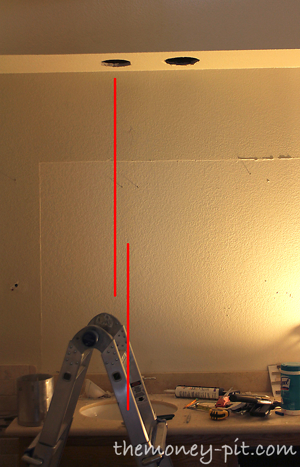 Bathroom Light Not Centered Over Sink master bathroom remodel: lighting and electrical complete! - the
