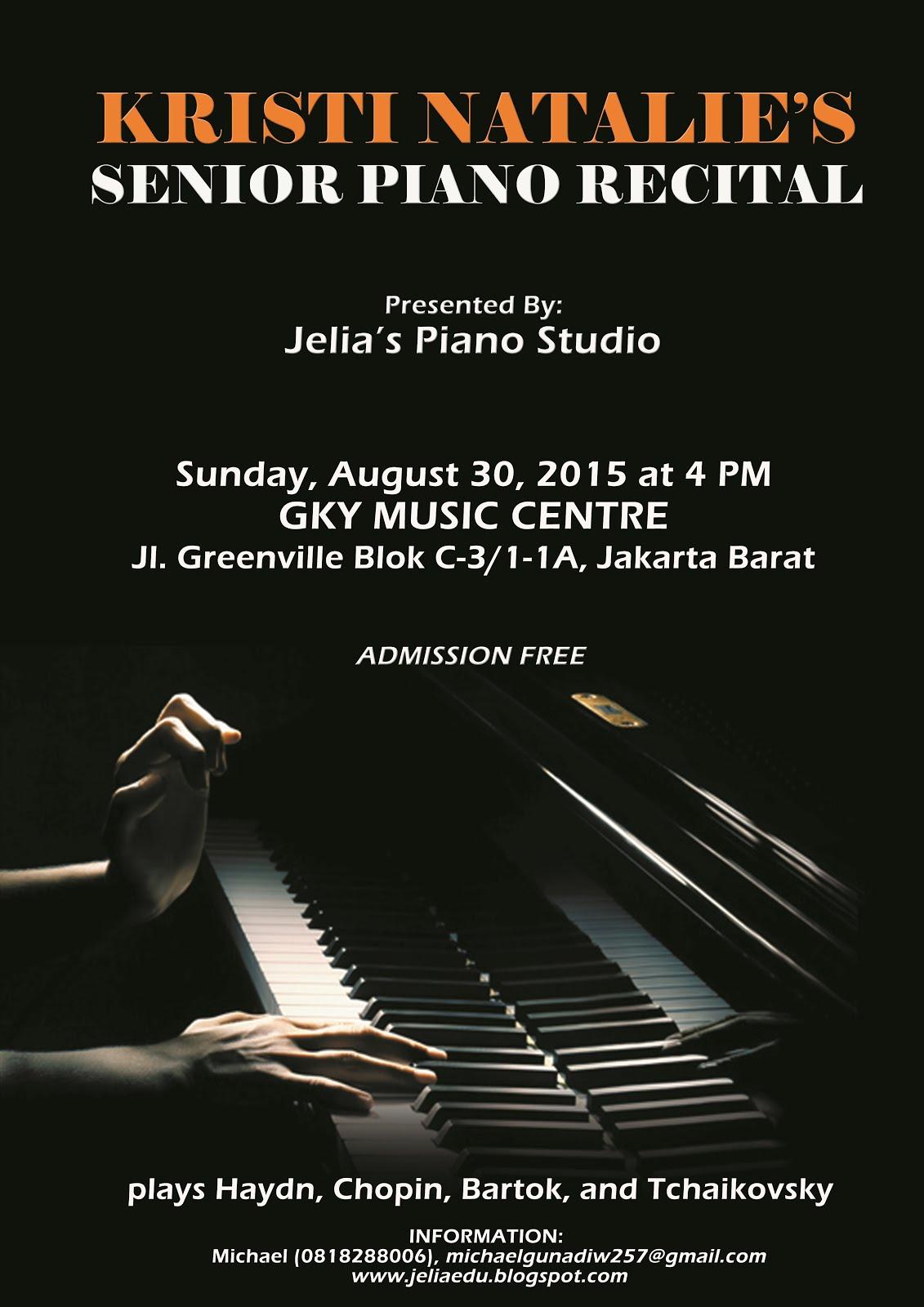 Kristi Natalie's Senior Piano Recital