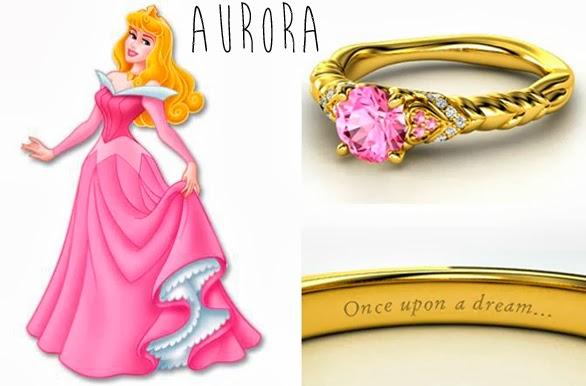 blog Mamãe de Salto aliança inspirada nas princesas da Disney Aurora