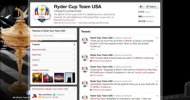 Compte Twitter de la TEAM USA