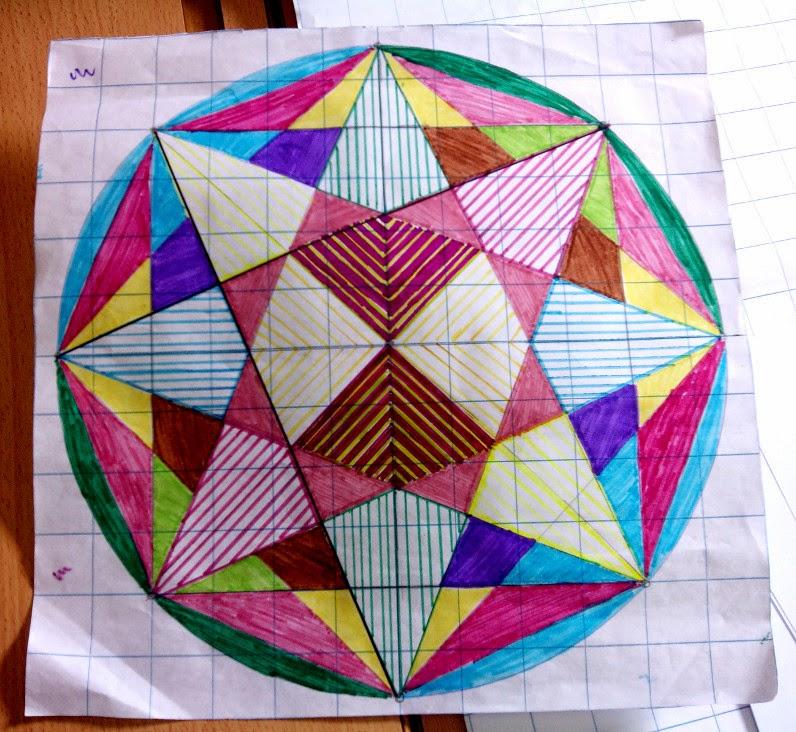 Aula rural de primaria estrellas de ocho puntas dibujo for Cuadros con formas geometricas