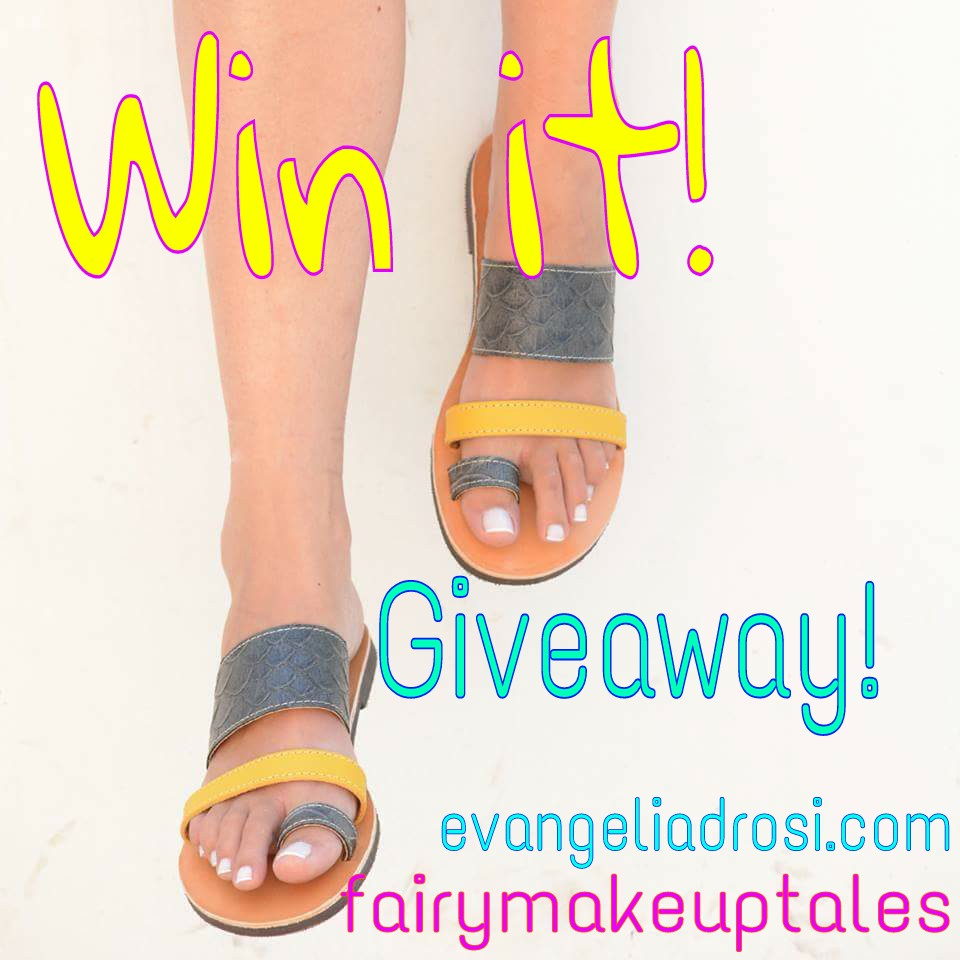 Win a handmade, leather sandal by EvangeliaDrosi.com!