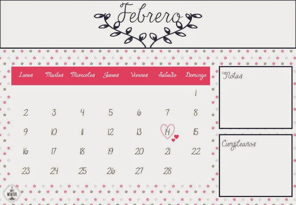 Calendario-Febrero-ASweetWinter