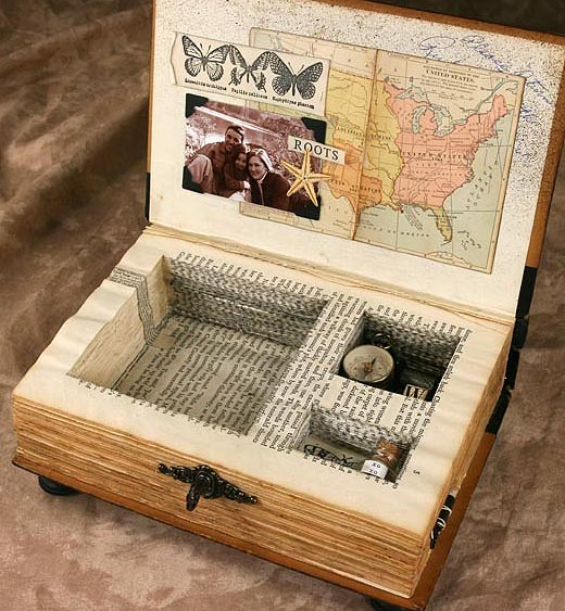 Kays Keepsakes Altered Book Music Box