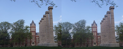 The columns on the Mizzou quadrangle.