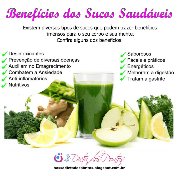 os benefícios dos sucos saudáveis