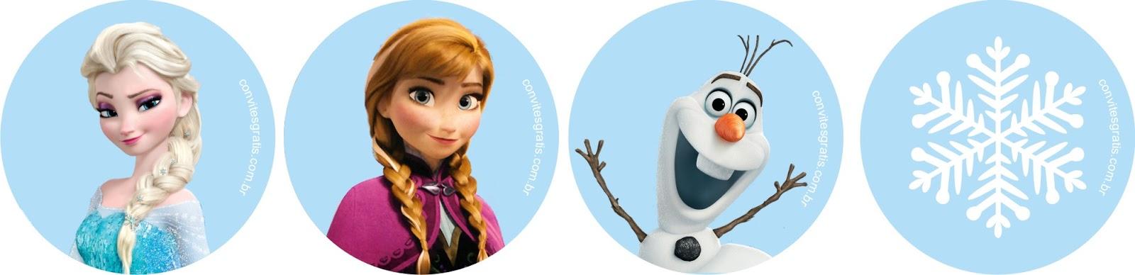 toppers gratis para imprimir Frozen