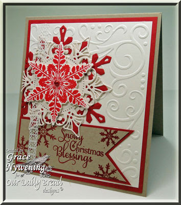 Our Daily Bread Designs Stamps - Sparkling Snowflakes, Snowflake Sentiments, Snowflakes Die