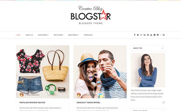 Blogstar Blogger Moda Teması