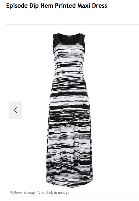 Morgan's Milieu | Episode Dip Hem Printed Maxi Dress Review: black and white maxi dress