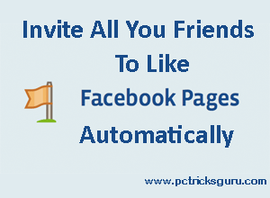 How to invite all your friends to like a facebook page automatically