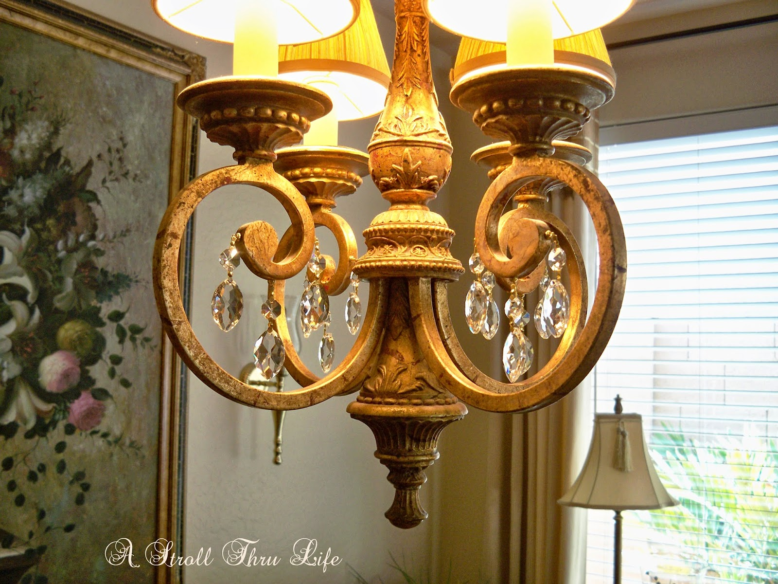 How to embellish a simple chandelier